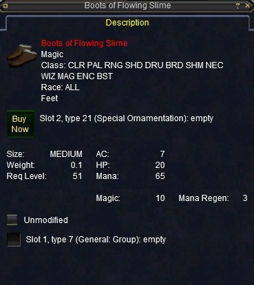Boots of Flowing Slime :: Items :: EverQuest :: ZAM