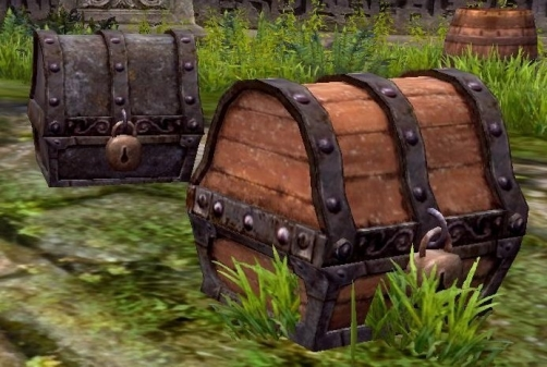 wooden and metal treasure chests