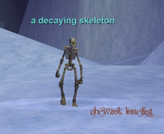 a decaying skeleton :: everquest :: zam, Skeleton