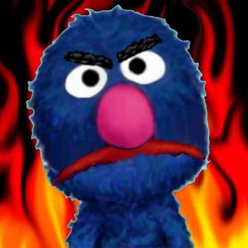 grover not happy