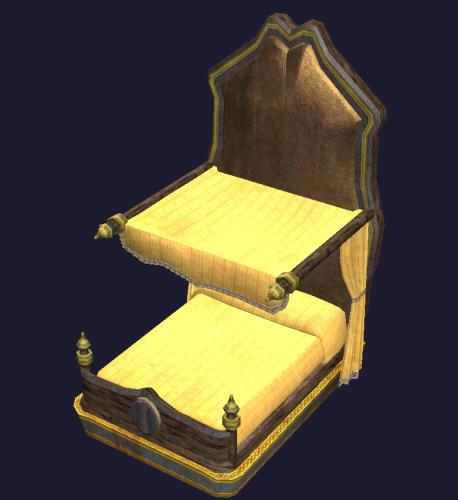 Gold Eucalyptus Canopy Bed Final Fantasy Xiv Ffxiv Ff14 Zam
