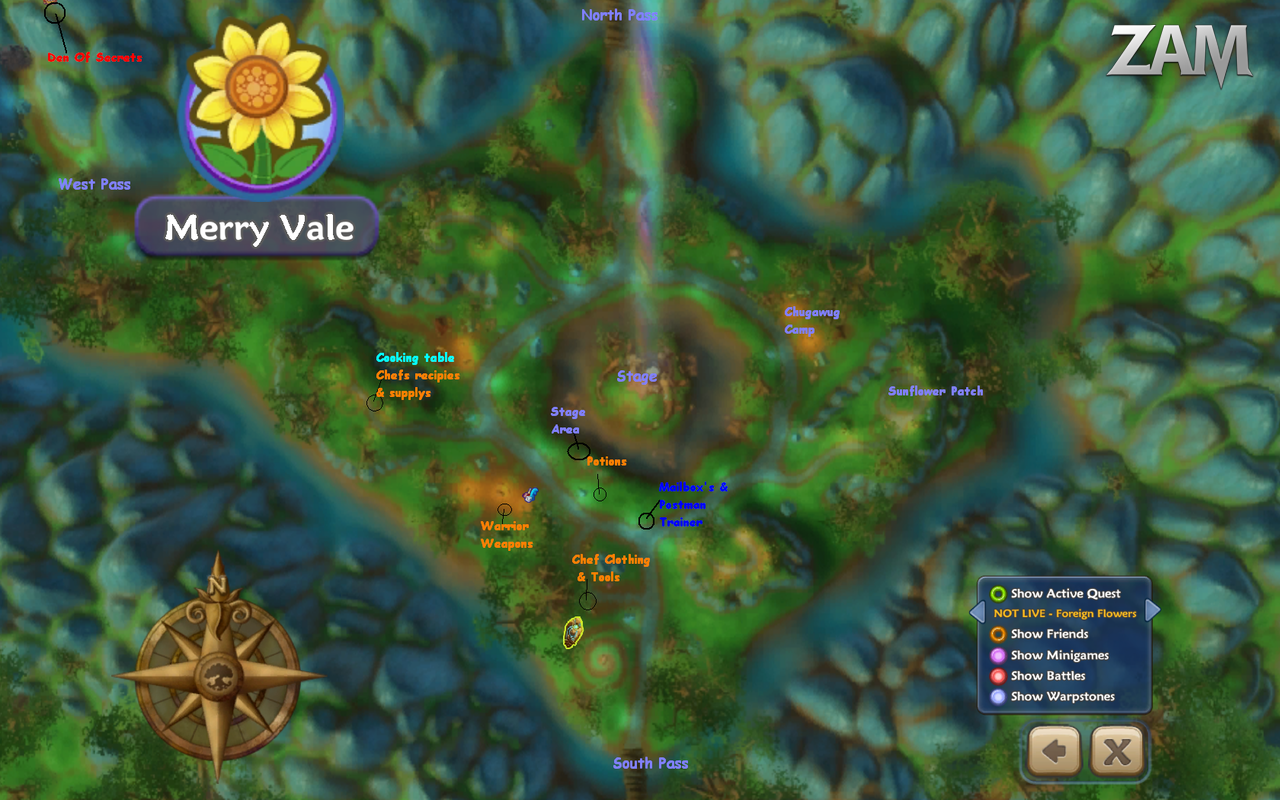 Merry Vale map by LadyParker