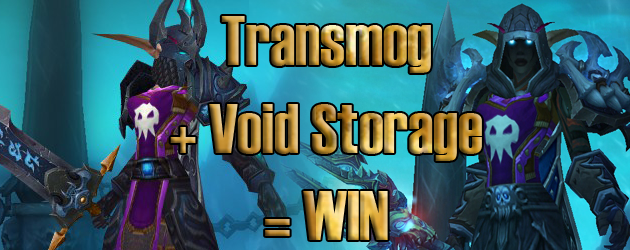 Transmog your gear without withdrawing it from void storage!