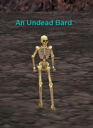 an undead bard :: bestiary :: everquest :: zam, Skeleton