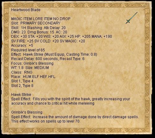 Heartwood Blade :: Items :: EverQuest :: ZAM
