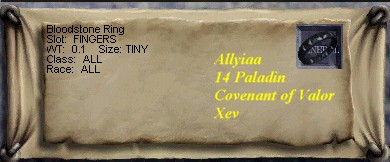Bloodstone Ring :: Items :: EverQuest :: ZAM