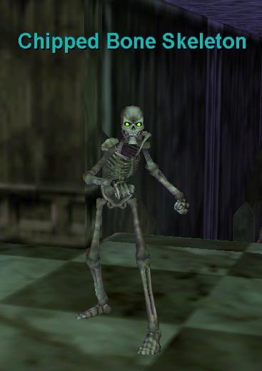 chipped bone skeleton :: bestiary :: everquest :: zam, Skeleton
