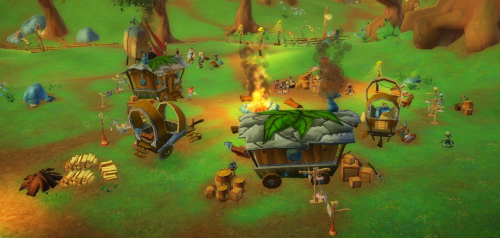 Overview of the Robgoblin Camp, as seen from the Robgoblin Trove