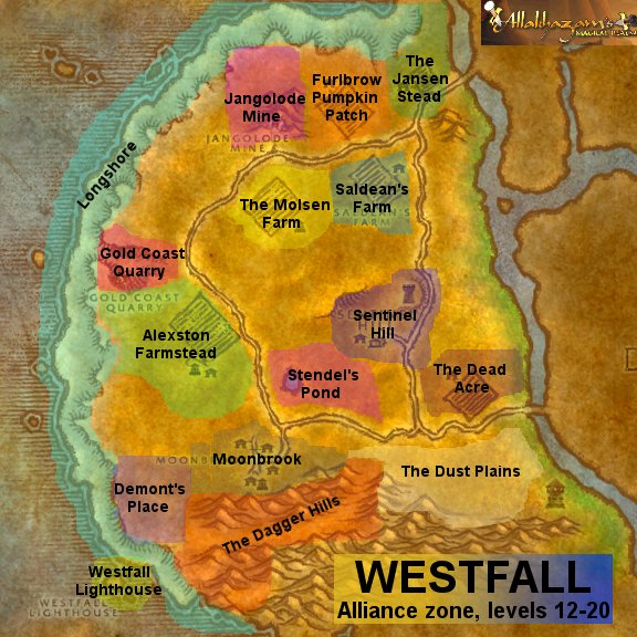 Westfall world of warcraft zam for West fall