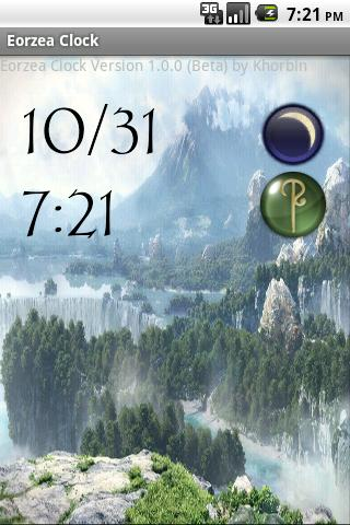 EorzeaClock 1.0.0 Main Screen