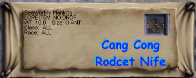 Seaworthy Planking :: Items :: EverQuest :: ZAM
