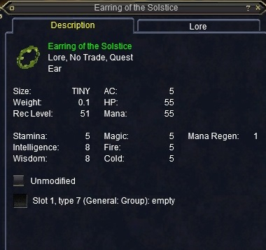 Earring of the Solstice :: Items :: EverQuest :: ZAM