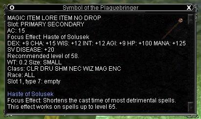 Symbol of the Plaguebringer :: Items :: EverQuest :: ZAM