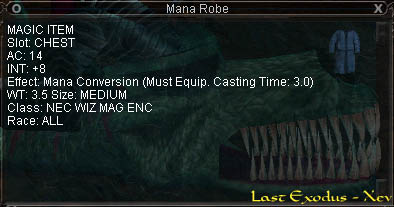 Mana Robe :: Items :: EverQuest :: ZAM