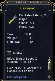 Distillate of Alacrity XV :: Items :: EverQuest :: ZAM