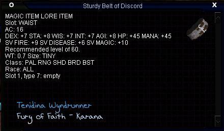 Sturdy Belt of Discord :: Items :: EverQuest :: ZAM
