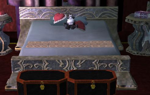 Shadowed Double Bed Final Fantasy Xiv Ffxiv Ff14 Zam
