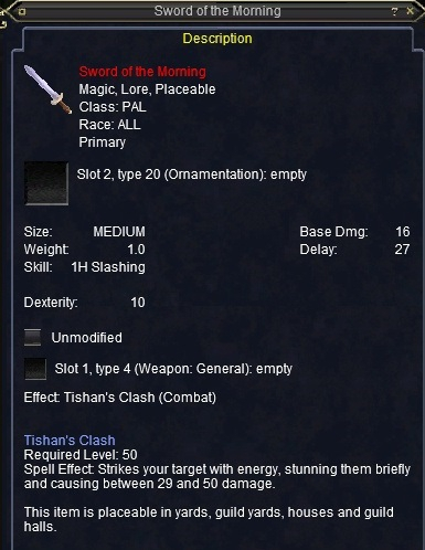 Sword of the Morning :: Items :: EverQuest :: ZAM
