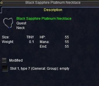 Black Sapphire Platinum Necklace Items Everquest Zam