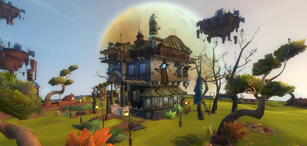 An example of a Wildstar housing plot.