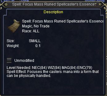 Spell: Focus Mass Runed Spellcaster's Essence