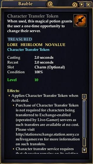 Transfers (EQ2) :: Wiki :: EverQuest II :: ZAM