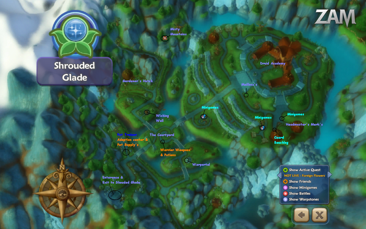 Shrouded Glade map by LadyParker