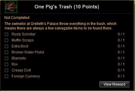 one pig's trash