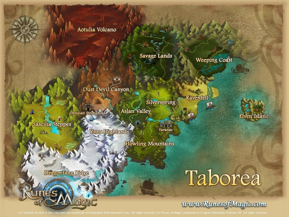 Chapter II Workd Map showing the new zones