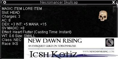 Necromancer Skullcap :: Items :: EverQuest :: ZAM