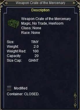 Weapon Crate of the Mercenary :: Items :: EverQuest :: ZAM