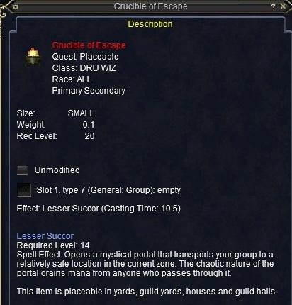 Crucible of Escape :: Items :: EverQuest :: ZAM