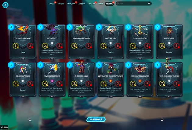 <em>Duelyst</em> Card Screenshot