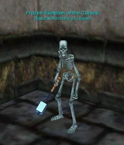 frozen skeleton of the cursed :: everquest :: zam, Skeleton