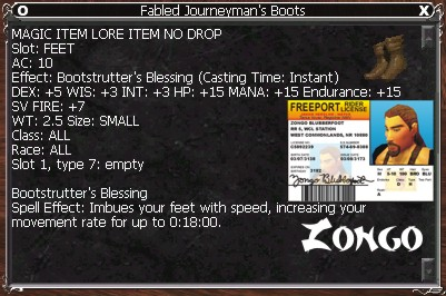 Fabled Journeyman's Boots :: Items :: EverQuest :: ZAM