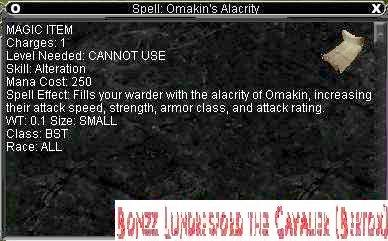 Spell: Omakin's Alacrity :: Items :: EverQuest :: ZAM