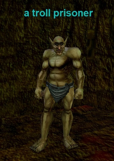 a troll prisoner :: Bestiary :: EverQuest :: ZAM