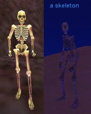 a skeleton :: bestiary :: everquest :: zam, Skeleton