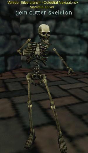 gem cutter skeleton :: Bestiary :: EverQuest :: ZAM
